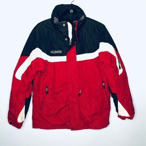 Columbia Puff Winter Coat Red White Black Jacket
